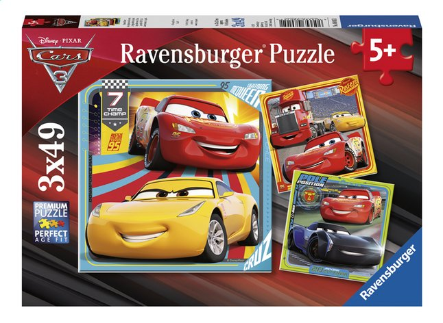Afbeelding van Ravensburger puzzel 3-in-1 Disney Cars 3 from DreamLand