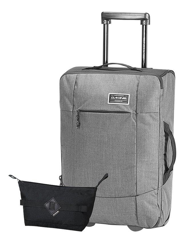 Dakine zachte reistrolley Carry On EQ Roller Carbon 55 cm + toiletzak Dopp Kit M Black