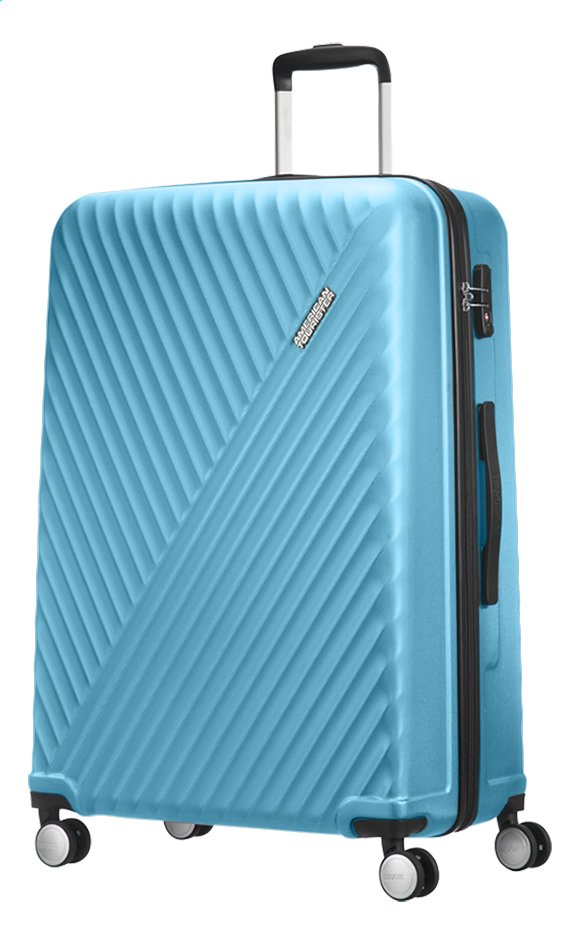 Afbeelding van American Tourister Harde reistrolley Visby Spinner light blue 76 cm from DreamLand