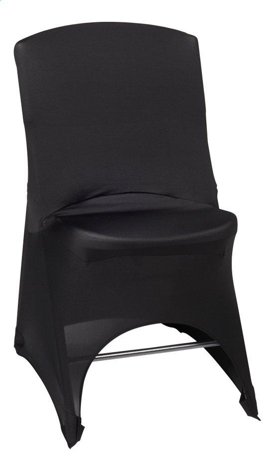 Housse stretch pour chaise pliante noir