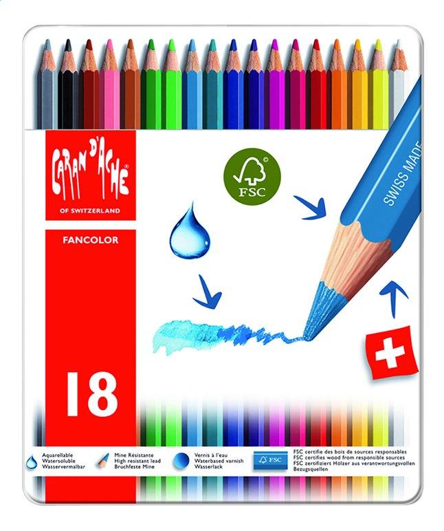 Caran d'Ache crayon de couleur Fancolor - 18 pièces
