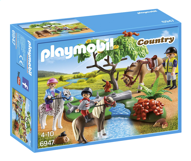 playmobil country 6947 cavaliers avec poneys et cheval dreamland. Black Bedroom Furniture Sets. Home Design Ideas