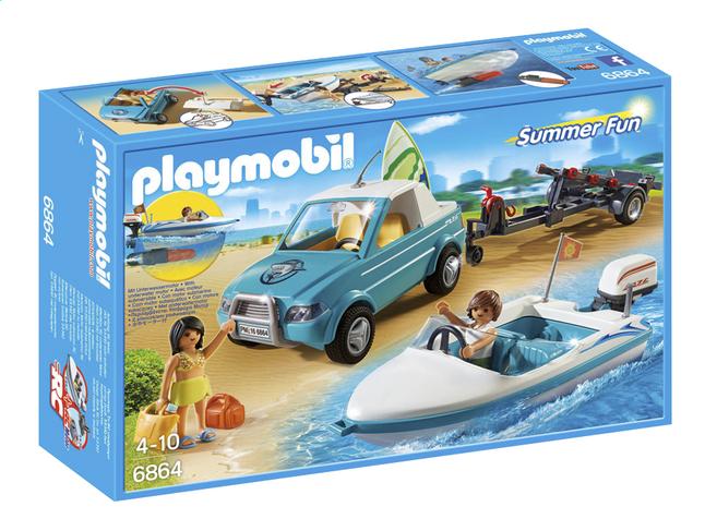 Afbeelding van Playmobil Summer Fun 6864 Pick-up met speedboot from DreamLand