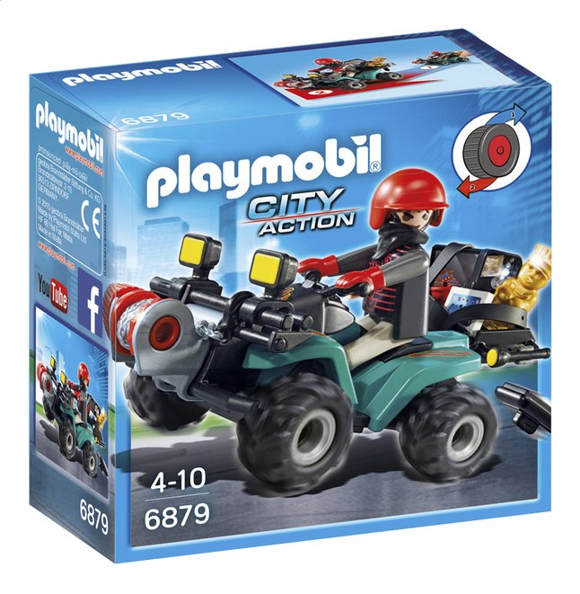 Afbeelding van Playmobil City Action 6879 Bandiet en quad met lier from DreamLand