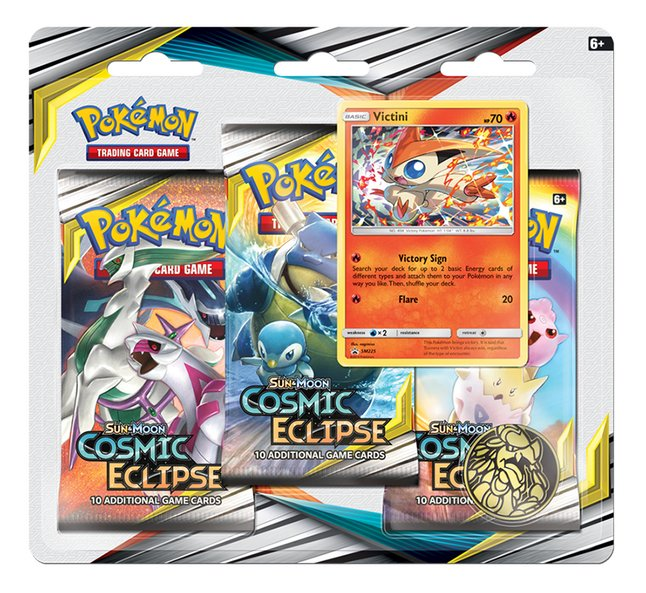 Pokémon Trading Cards Sun & Moon 12 Cosmic Eclipse blister 3 pièces - Victini ANG