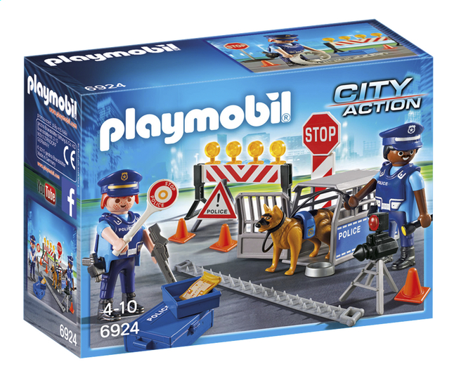 Afbeelding van Playmobil City Action 6924 Politiewegversperring from DreamLand