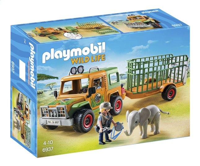 Afbeelding van Playmobil Wild Life 6937 Ranger terreinwagen met olifant from DreamLand