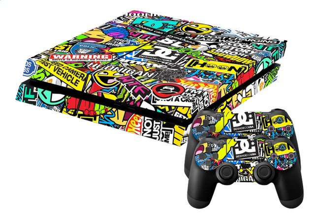 Afbeelding van PS4 console skins + 2 controllers skins Hoonigan from DreamLand