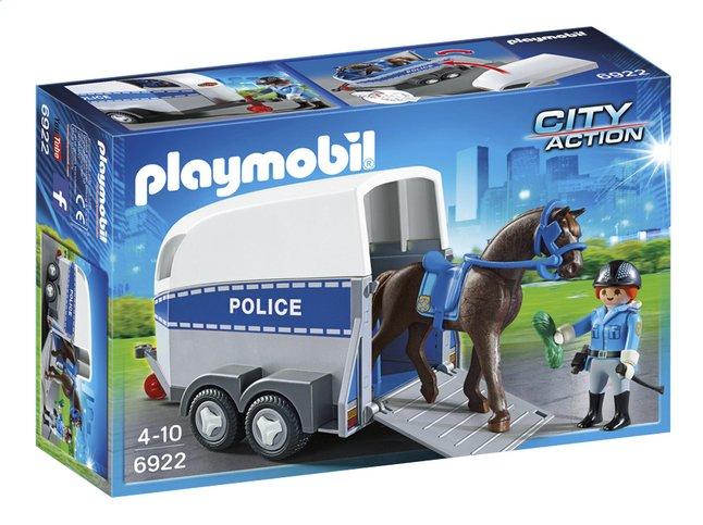 Image pour Playmobil City Action 6922 Policière avec cheval et remorque à partir de DreamLand