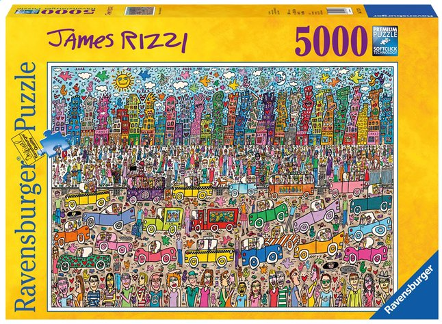 Afbeelding van Ravensburger puzzel James Rizzi from DreamLand