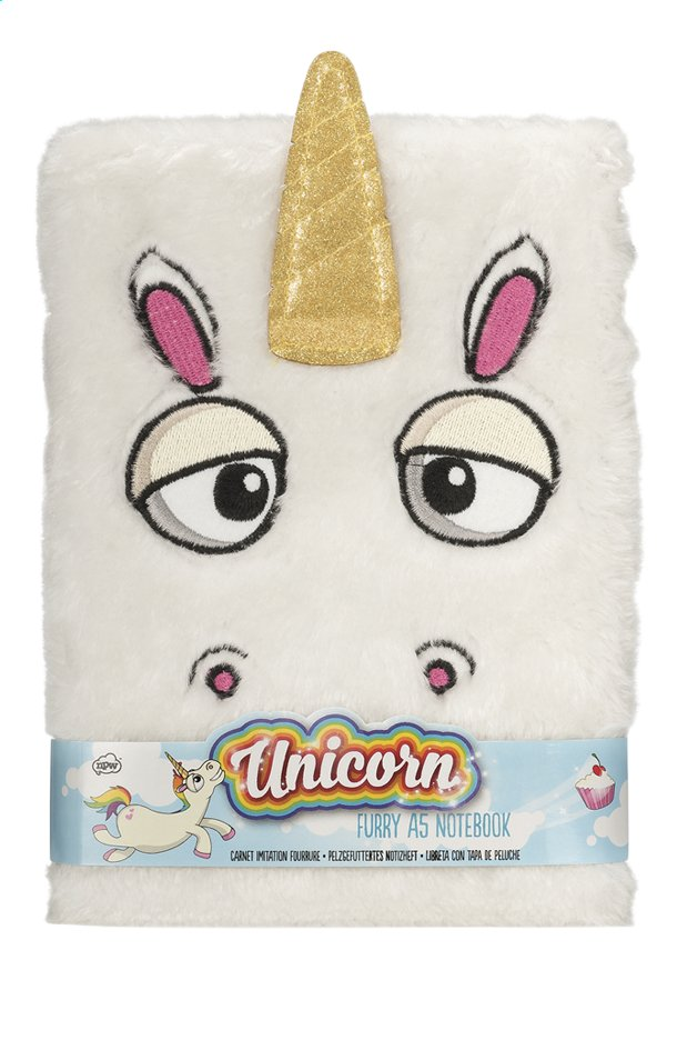 Afbeelding van Notitieboekje A5 Furry Unicorn from DreamLand