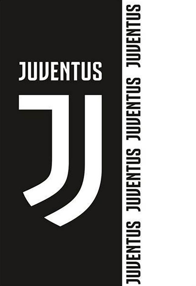 Strandlaken Juventus 70 x 140 cm zwart