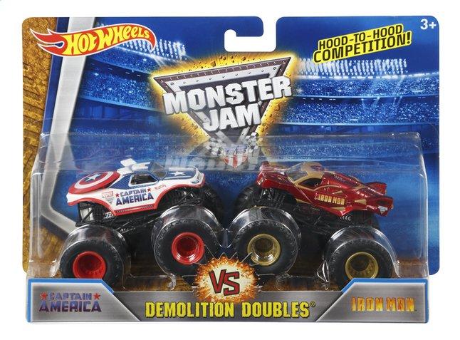 Afbeelding van Hot Wheels Monster Truck Demolition Doubles Captain America VS Iron Man from DreamLand