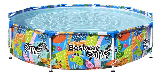 Bestway Piscine Steel Pro Jungle O 3 05 X H 0 66 M Super Deals