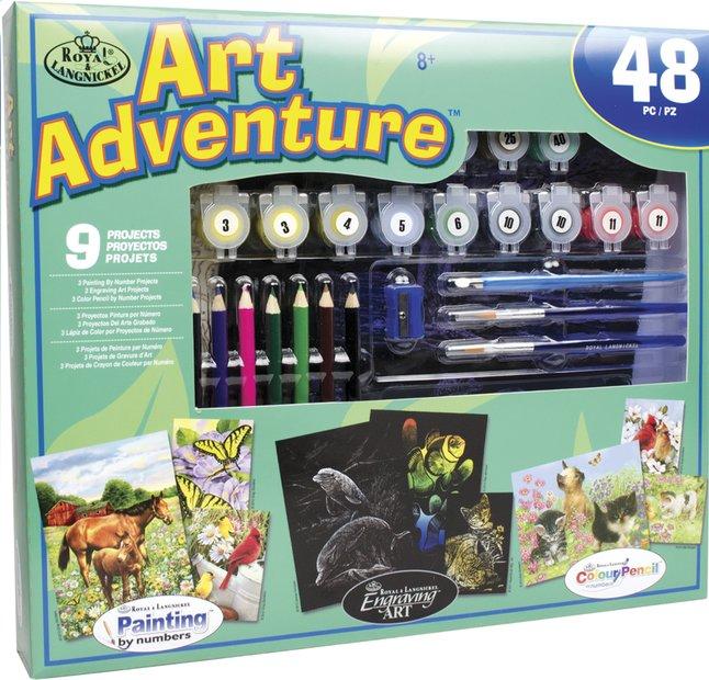 Afbeelding van Royal & Langnickel Art Adventure set groen 9 activiteiten from DreamLand