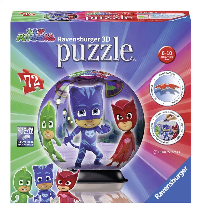 Afbeelding van Ravensburger puzzleball PJ Masks 3D from DreamLand