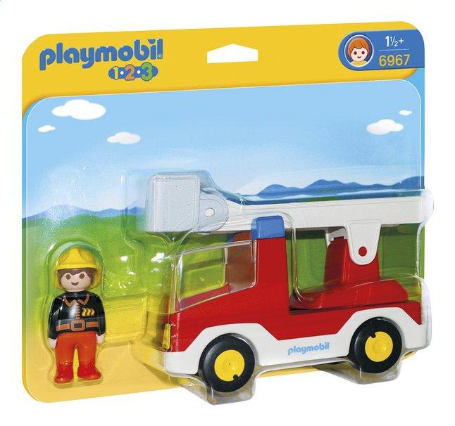 Afbeelding van Playmobil 1.2.3 6967 Brandweerwagen met ladder from DreamLand