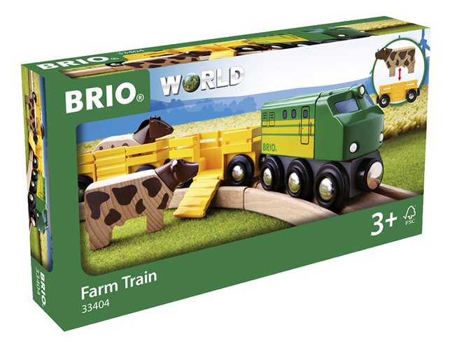 BRIO World 33404 Train des animaux de la ferme