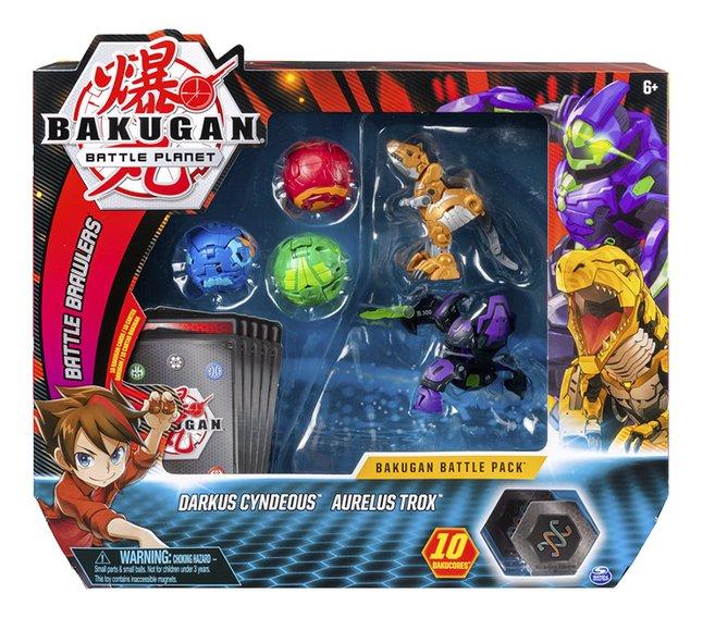 Bakugan Battle 5-Pack - Darkus Cyndeous & Aurelus Trox