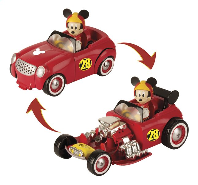 Bolide transformable avec figurine Disney Mickey et ses amis : Top Départ ! Mickey