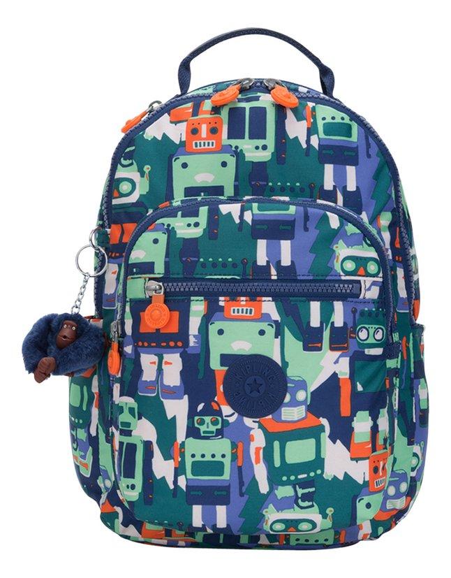 Kipling sac à dos Seoul S Robot Camo Blue