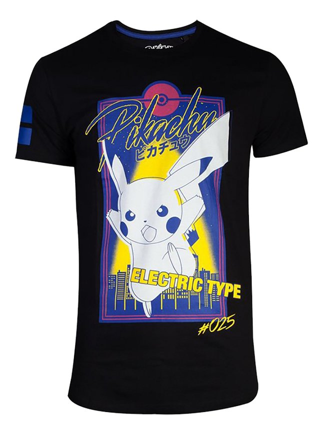 T-shirt Pokémon Electric Type City zwart M