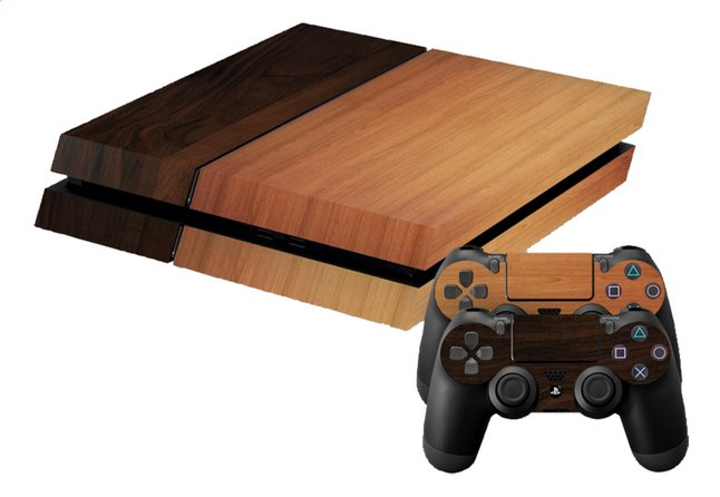 Afbeelding van PS4 console skins + 2 controllers skins Wood mix from DreamLand