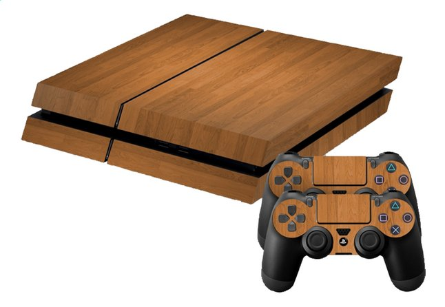 Afbeelding van PS4 console skins + 2 controllers skins  Wood from DreamLand