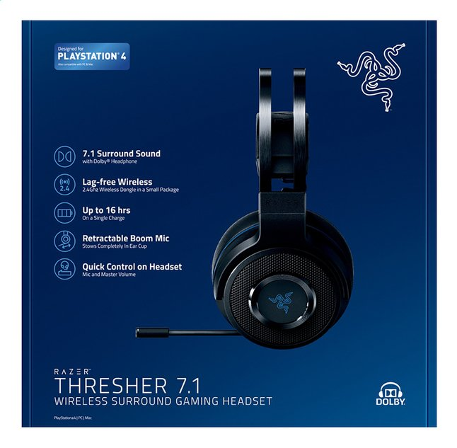 Image pour Razer casque-micro PS4 Thresher 7.1 Wireless noir à partir de DreamLand