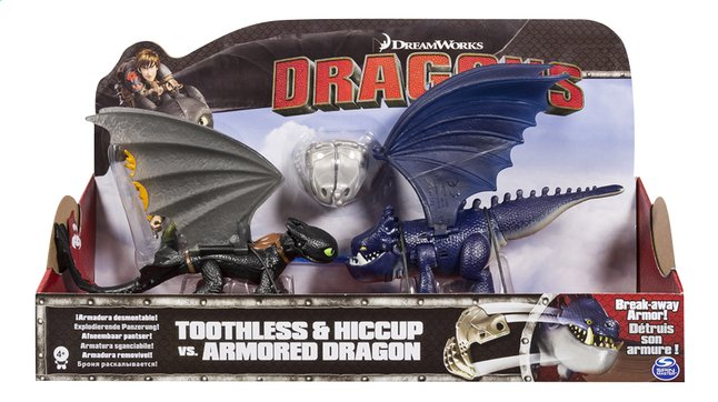 Image pour Set Dragons Toothless & Hiccup vs. Armored Dragon bleu à partir de DreamLand