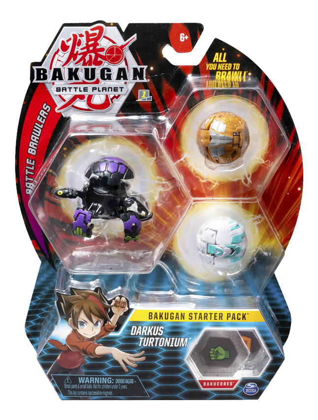 Bakugan Starter 3-Pack - Darkus Turtonium