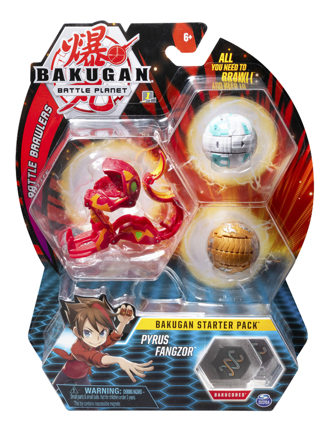 Afbeelding van Bakugan Starter 3-Pack - Pyrus Fangzor from DreamLand