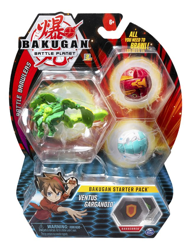 Bakugan Starter 3-Pack - Ventus Garganoid