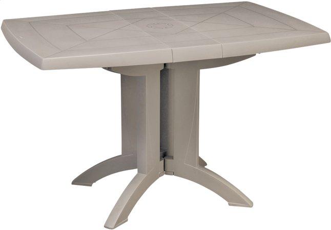 Grosfillex table de jardin Vega beige L 120 x Lg 80 cm