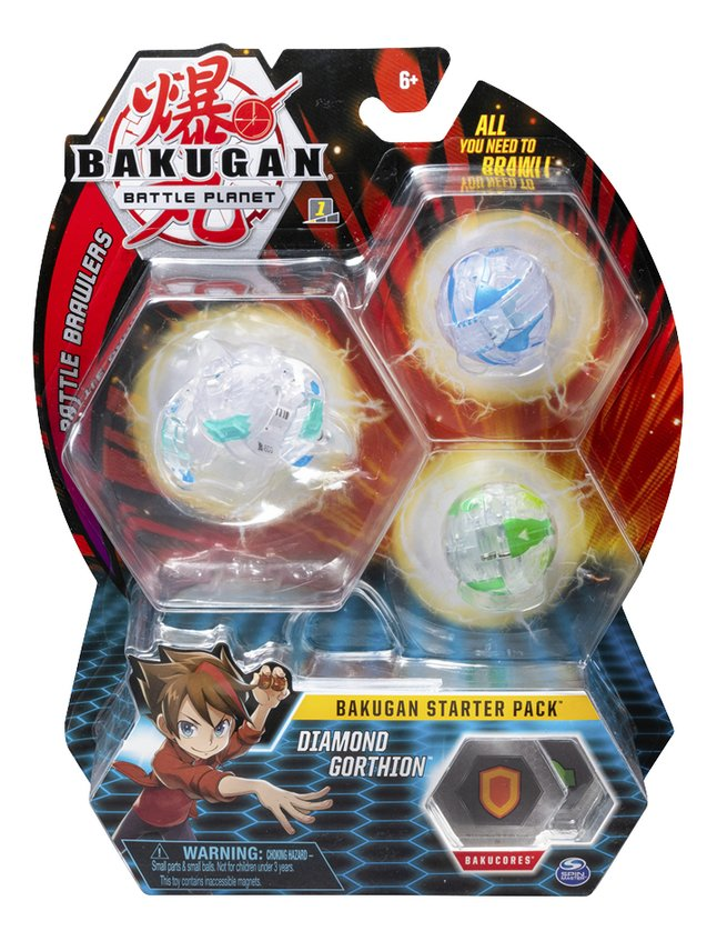 Afbeelding van Bakugan Starter 3-Pack - Diamond Gorthion from DreamLand