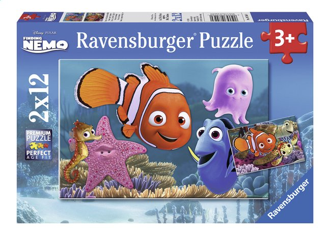 Afbeelding van Ravensburger puzzel 2-in-1 Disney Finding Nemo Nemo is ontsnapt from DreamLand