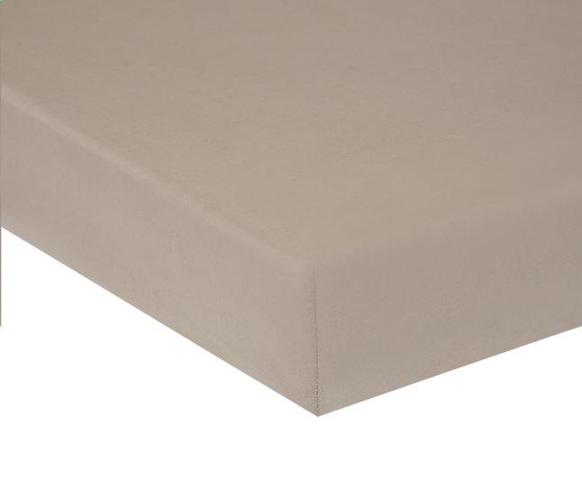Image pour Home lineN Drap-housse Bicolore taupe en coton 140 x 200 cm à partir de DreamLand