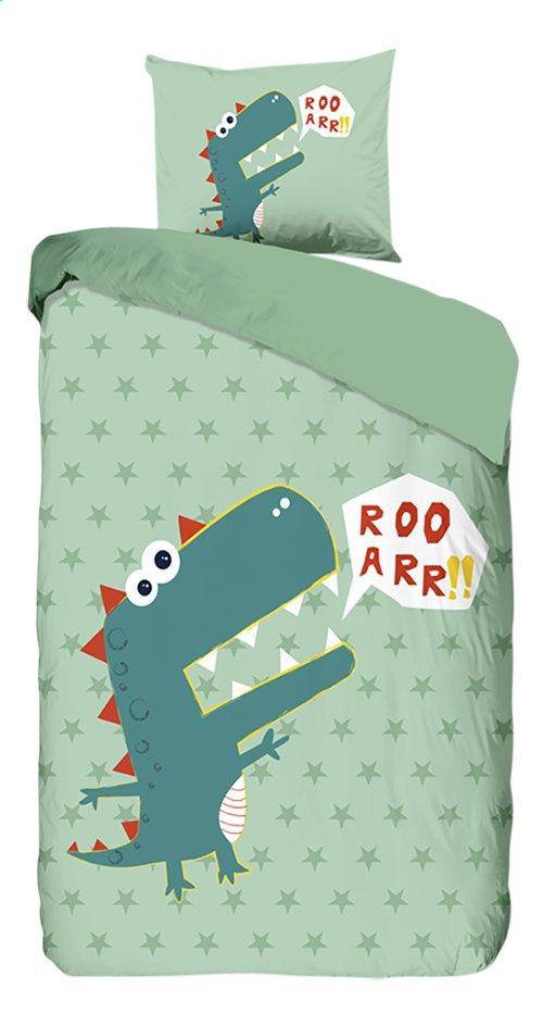 Good Morning Housse de couette Dino coton Lg 140 x L 220 cm