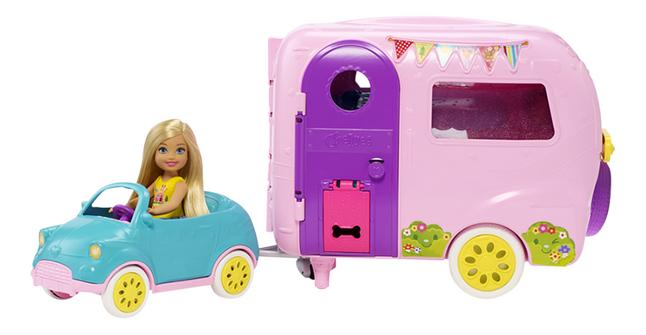 Afbeelding van Barbie speelset Chelsea met caravan from DreamLand