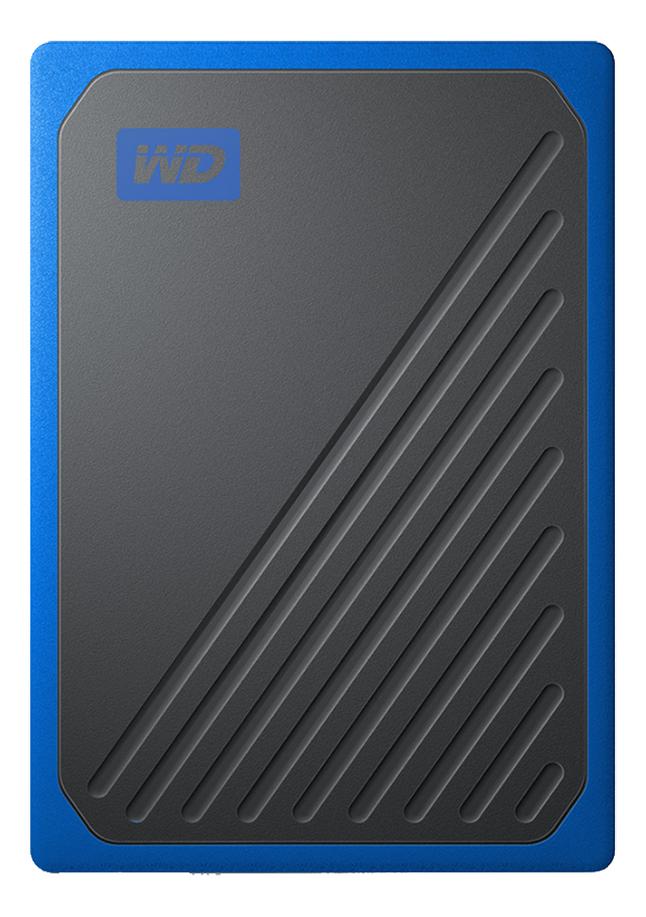 WD disque dur externe My Passport Go 500 Go noir/bleu