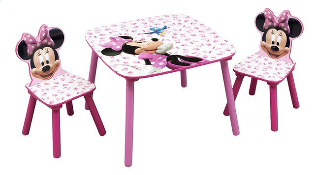 table avec 2 chaises minnie mouse dreamland. Black Bedroom Furniture Sets. Home Design Ideas