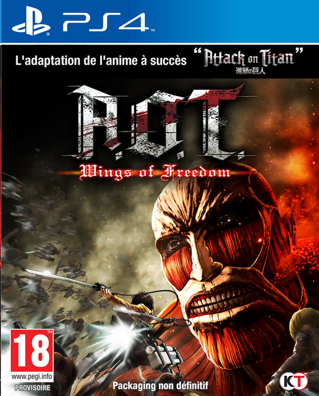 Afbeelding van PS4 Attack On Titan - Wings of Freedom FR from DreamLand