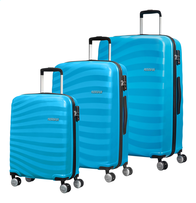 Afbeelding van American Tourister set van 3 harde trolleys Oceanfront Spring Blue from DreamLand
