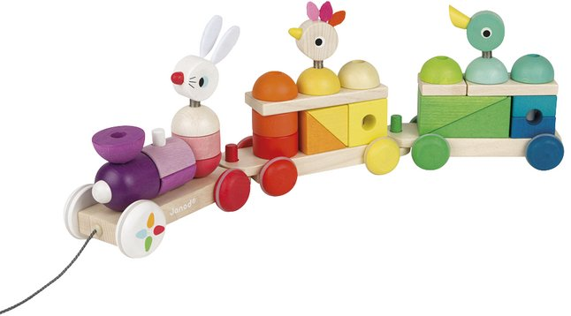 Image pour Janod Train Géant Multicolor Zigolos en bois à partir de DreamLand
