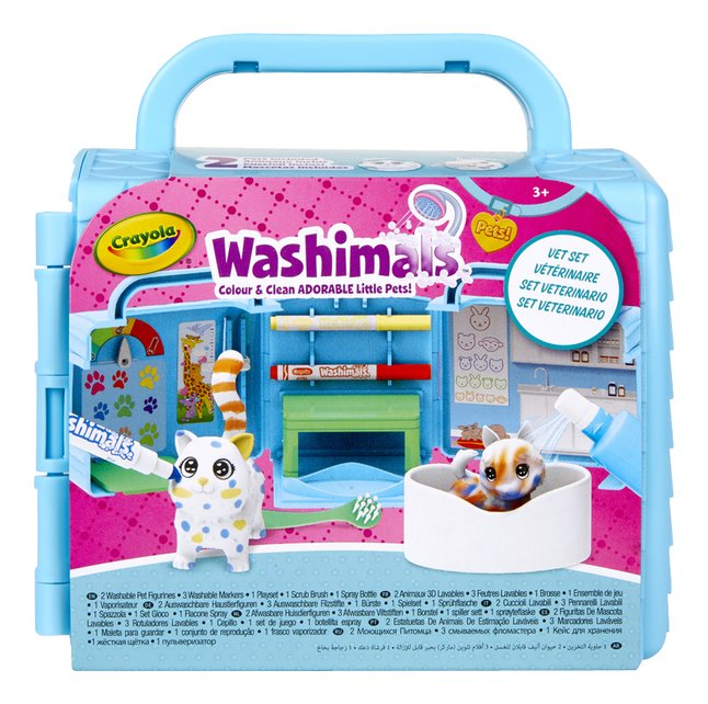 Crayola Washimals Colour & Wash Adorable Litle Pets! Vet Set