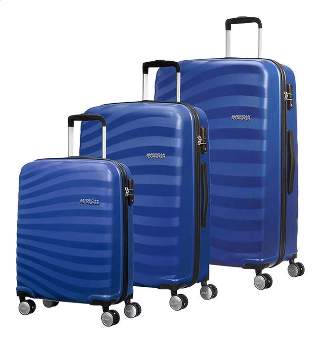 Afbeelding van American Tourister set van 3 harde trolleys Oceanfront Ocean Blue from DreamLand