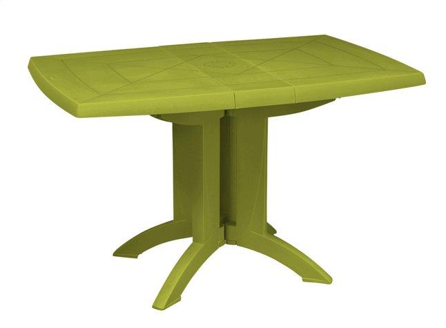 Grosfillex table de jardin Vega vert L 120 x Lg 80 cm