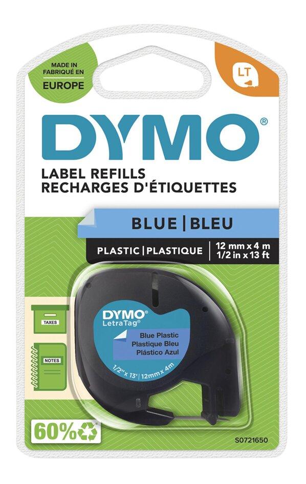 Dymo navulling voor labelprinter Letratag Blue Plastic