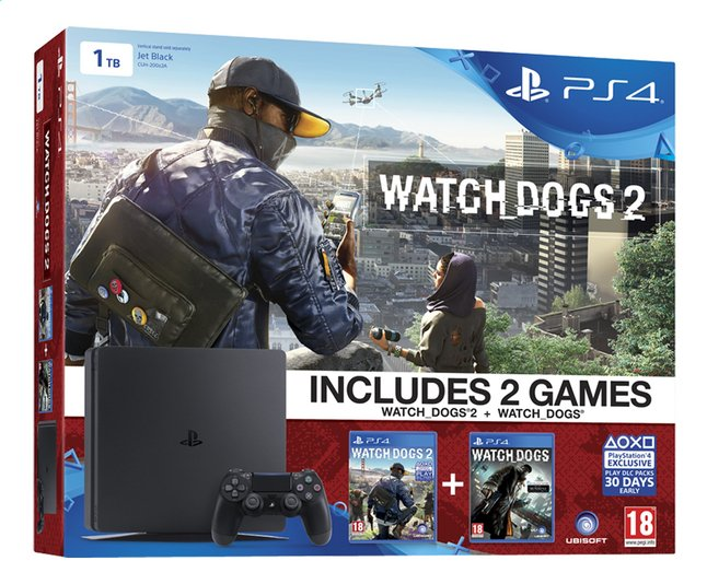 Afbeelding van PS4 console New 1 TB + Watch dogs 1 en Watch dogs 2 from DreamLand