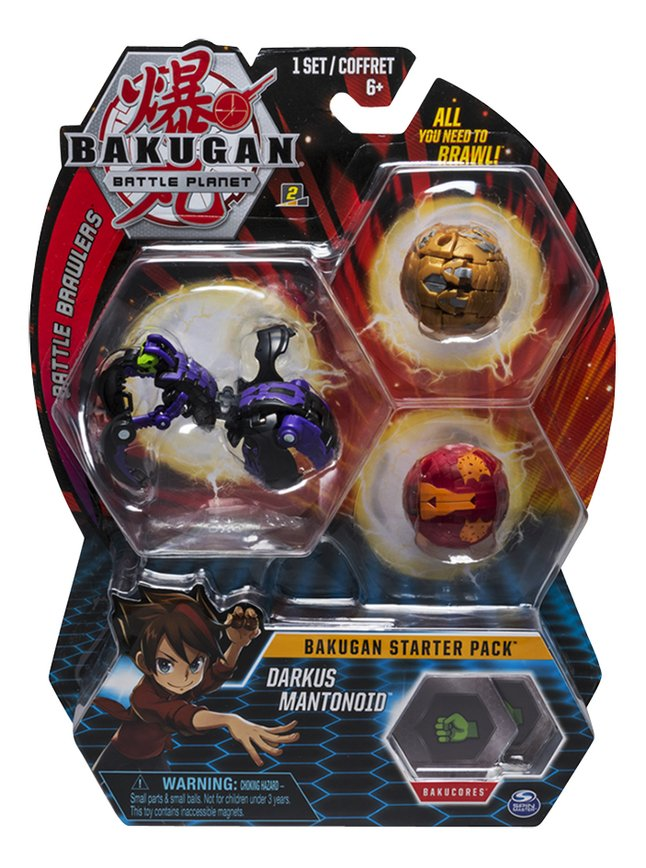 Afbeelding van Bakugan Starter 3-Pack - Darkus Mantanoid from DreamLand